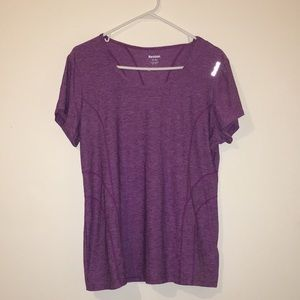 Purple Reebok work out tee